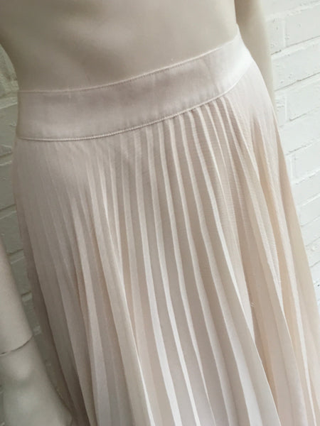 Alice + Olivia Essie pleated georgette midi skirt Ladies