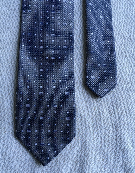 VERSACE COLLECTION  Grey Silk Print Tie 100% AUTHENTIC MADE IN ITALY Men