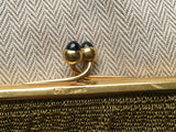 1920s French 18k 18ct 750 Yellow Gold Calibre Sapphire Purse Bag Handbag 407g Ladies