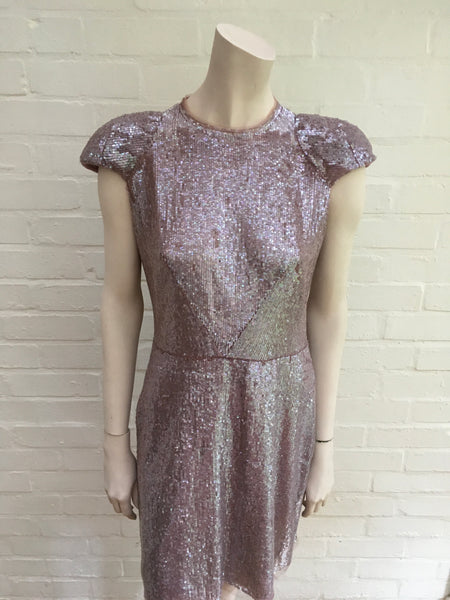 JASMINE DI MILO RUNAWAY COUTURE PRONOVIAS SEQUINS PURPL DRESS ladies