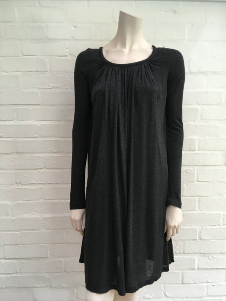 JOSEPH Women's Amour Charcoal Grey Dress Size S Small Ladies