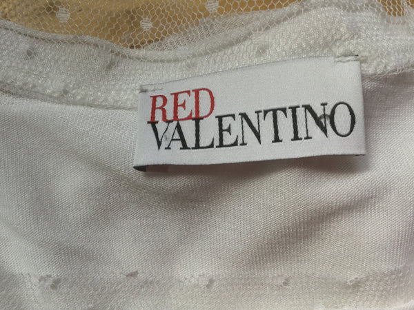 RED VALENTINO SHORT SLEEVE TOP SIZE M MEDIUM LADIES