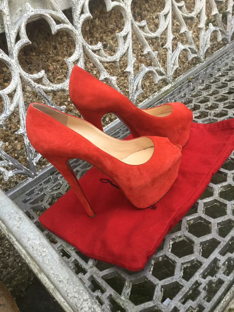 533d21bb3681 ... Christian Louboutin Highness 160 pumps shoes £635 SUEDE RED   Pony Fur  LEOPARD SIZE 39 ...