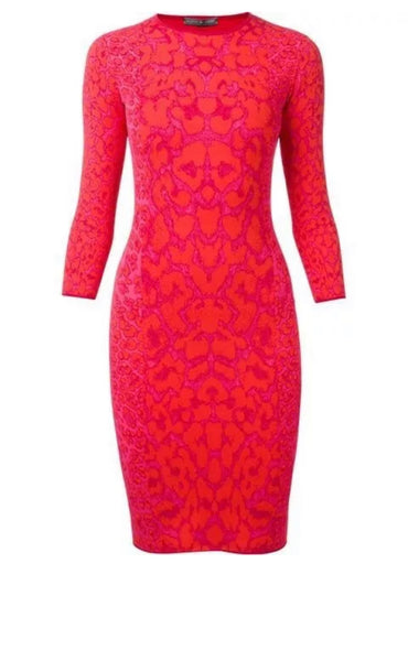 Alexander McQueen Women's Pink Leopard Print Bodycon Dress Size S Small  ladies