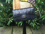 CHANEL Lambskin Mini Flap Black Bag Handbag Ladies