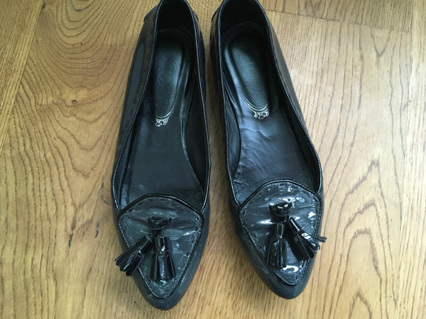 TOD'S Patent Leather Tassel Loafers SHOES SIZE 36 UK 3 US 6 Ladies