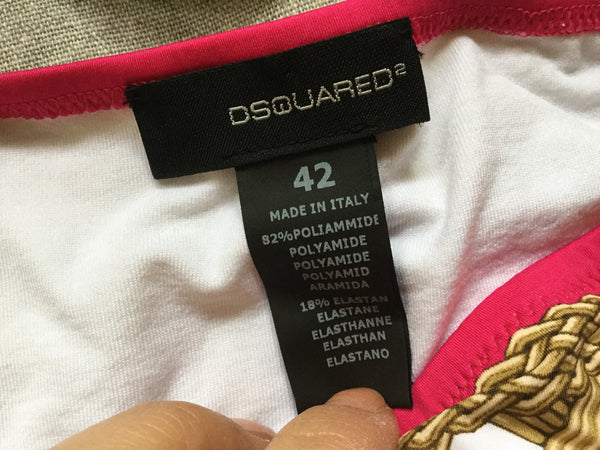 DSquared2 Gold Two-piece Swimsuit I 42 M New with Tags Ladies