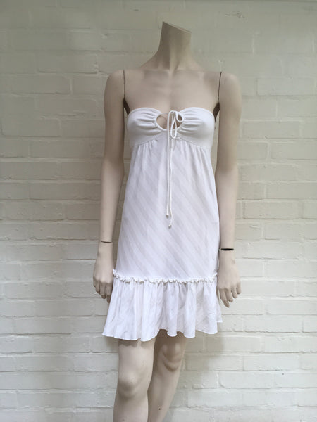 ELLA MOSS stripped strapless dress coverup LADIES