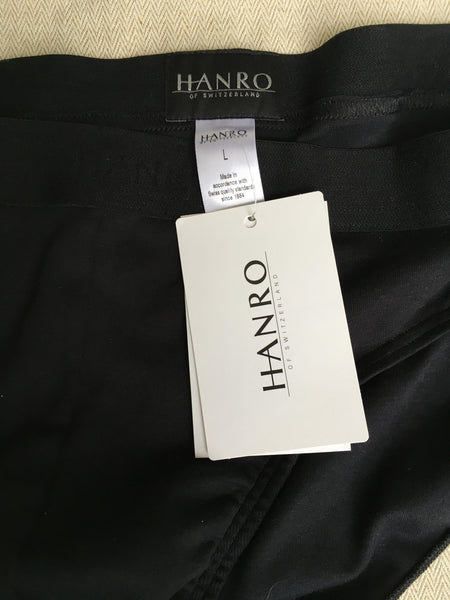 HANRO OF SWITZERLAND Cotton Essentials Brief Underwear - BLACK (3073) SIZE L LARGE MEN