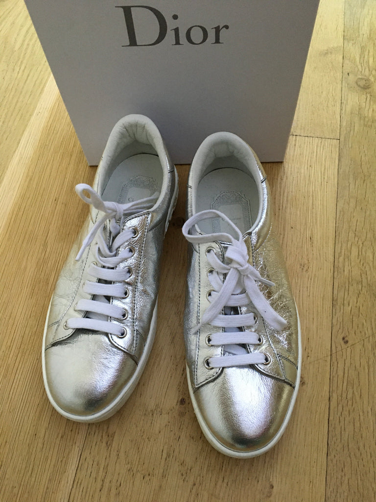 CHRISTIAN DIOR Silver Move Low-Top