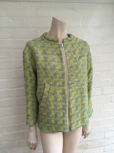 H&M GREEN TWEED CHANEL LIKE BLAZER  ladies
