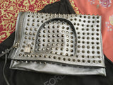 Tom Ford Alix Small Studded Leather Padlock & Zip Shoulder Bag Silver LIMITED EDITION LADIES