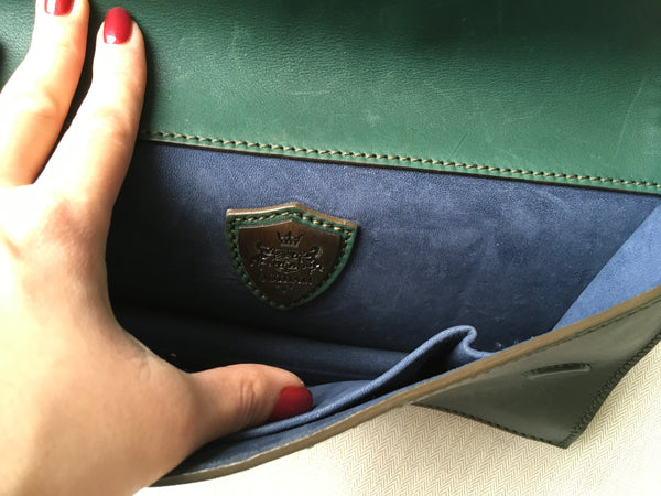 QUIDAM Limited Edition Green Clutch Bag  Worn By Danish & Swedish Royals Ladies