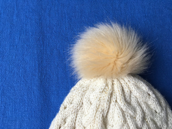 Petit Bateau Wool Blend Girl Cable Knit Pom-Pom Hat Amazing Quality 2019 Children