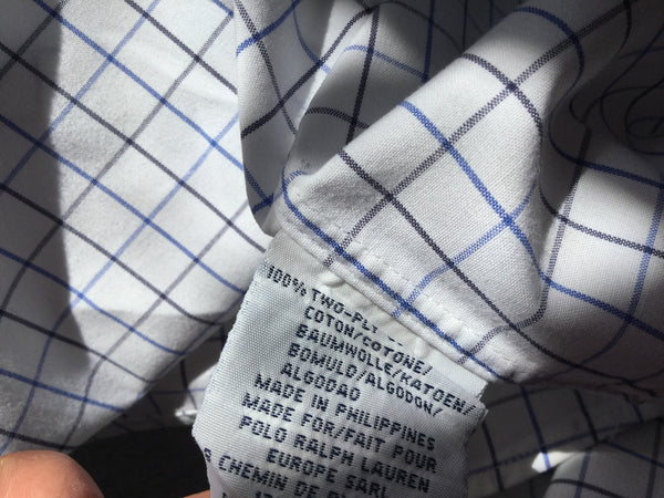 RALPH LAUREN POLO ELLINGTON PLAID  BUTTON DOWN COTTON SHIRT L LARGE MEN