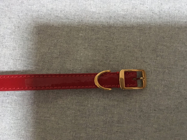 STELLA MCCARTNEY PATENT RED BELT SIZE 70 LADIES
