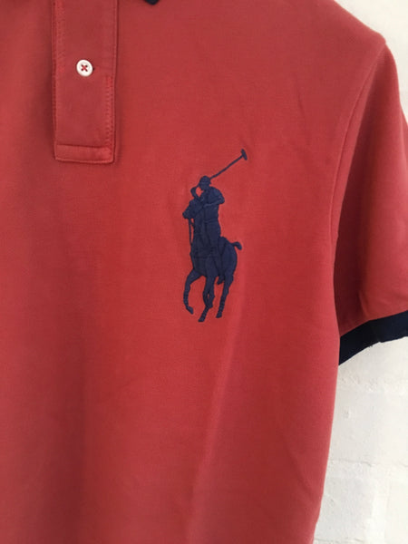 Ralph Lauren POLO Custom Fit Big Pony Polo T shirt Shirt Size M Medium MEN