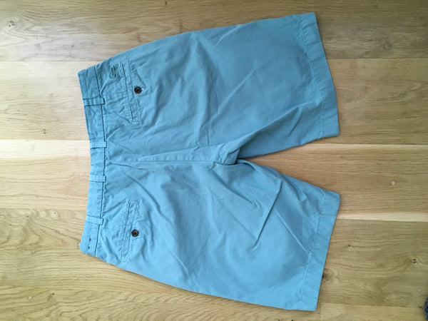 Brooks Brothers Bermuda Shorts Mens Turquoise 100% Cotton Flat Front Size W 34 Men