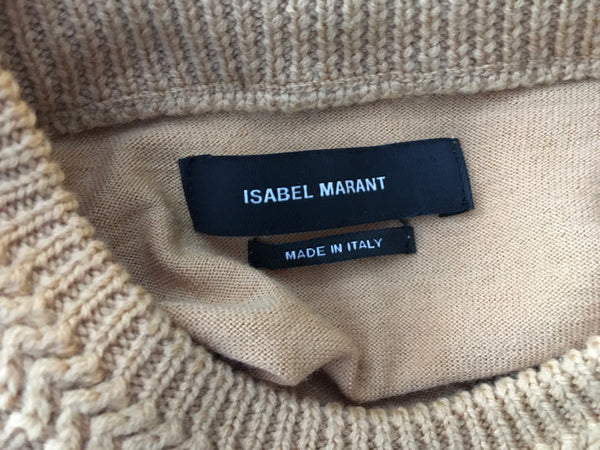 Isabel Marant 'Chris' Fine Knit Pure Merino Wool Sweater Top Ladies