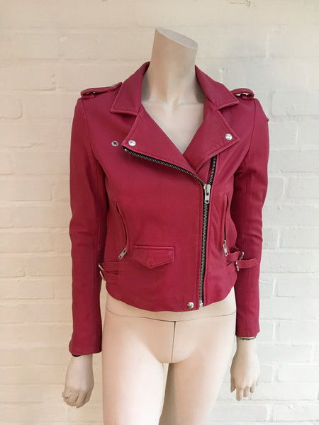 IRO Ashville Leather Biker Jacket Coat Ladies
