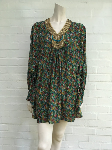 3.1 Phillip Lim silk floral embellished beaded kaftan dress Ladies