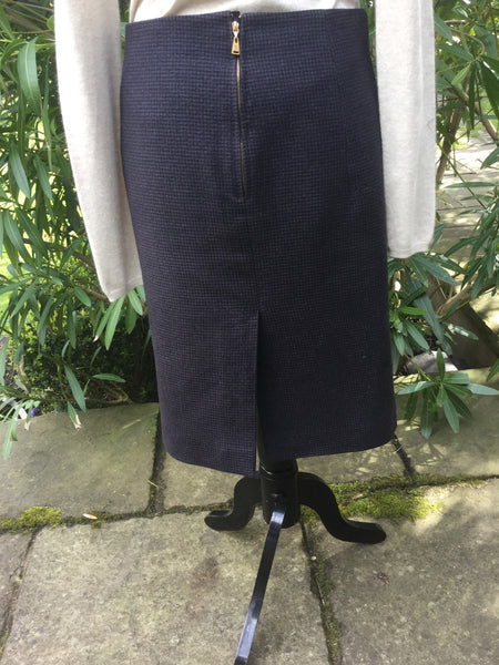 LOUIS VUITTON TWEED KNEE-LENGTH SKIRT SIZE F 40 M MEDIUM LADIES