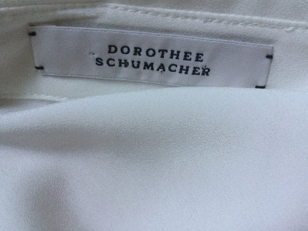 Dorothee Schumacher White Printed Silk Shirt Size 2 S Small Ladies