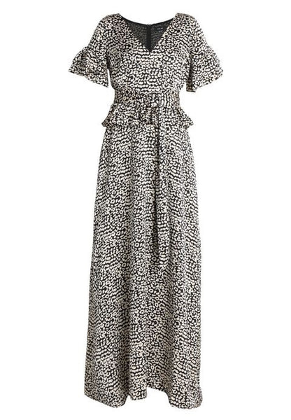 Lost Ink Maxi Dress With Belted Waist In Leopard ladies