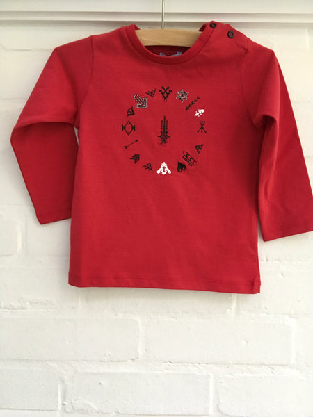 LANVIN BABY BOYS RED COTTON TOP T SHIRT Children