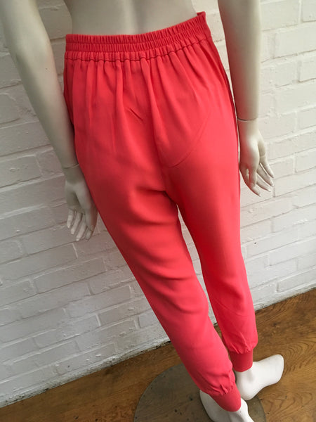 Stella McCartney Julia stretch-cady tapered Pants Trousers Size I 38 UK 6 US 2 Ladies