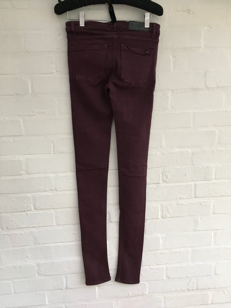 Victoria Beckham Power Skinny Denim mid-rise jeans pants trousers Ladies