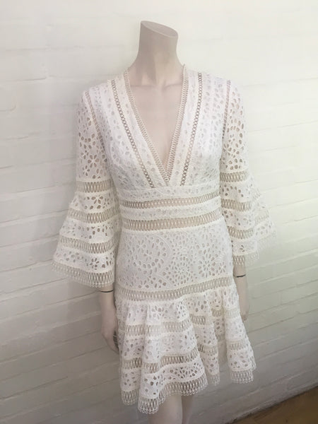 ZIMMERMANN Lovelorn broderie anglaise cotton mini dress Ladies