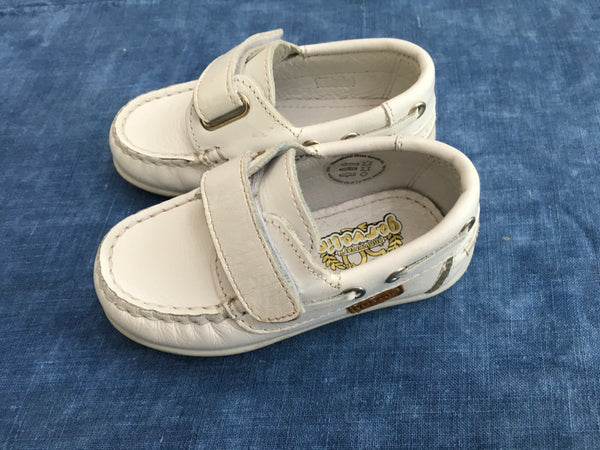 GARVALIN 50 aniversario Boys Shoe White Leather Size 21 Children