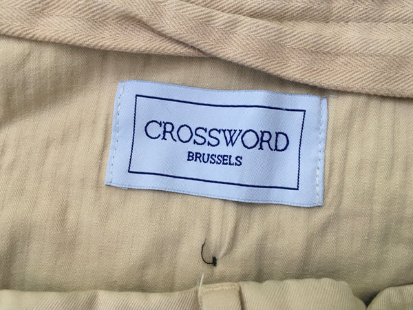 CROSSWORD BRUSSELS Men's Beige - Trousers Pants Size 50 Men