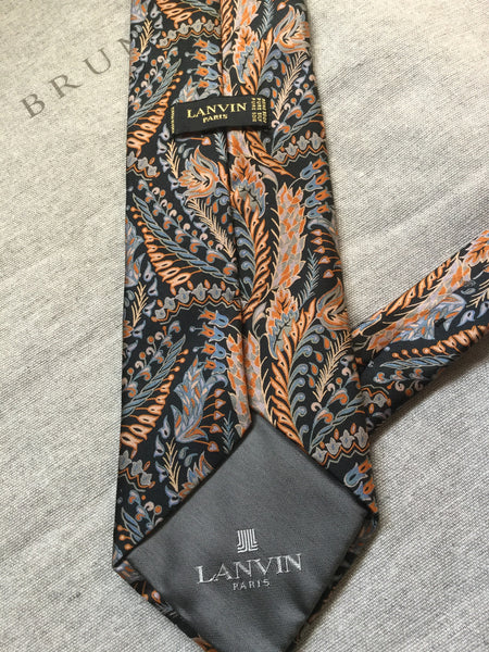 LANVIN FLORAL PRINT SILK TIE AMAZING QUALITY AS NEW MEN