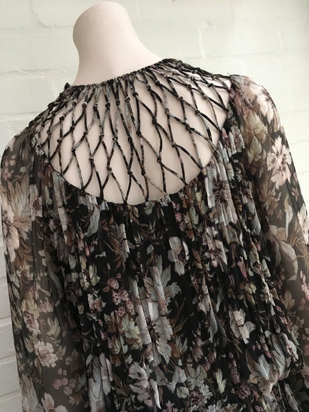ZIMMERMANN gossamer lattice drawn silk dress Ladies