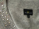 WILLIAM SHARP V Neck Sweater DRESS Jumper 100% Cashmere Swarovski  ladies