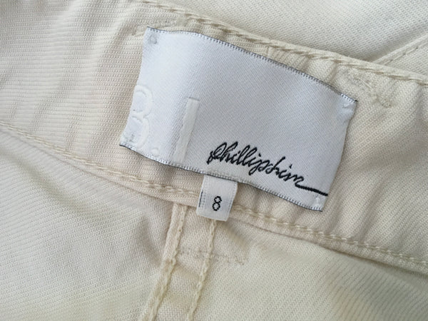 3.1 Phillip Lim cream wide leg jeans pants trousers LADIES