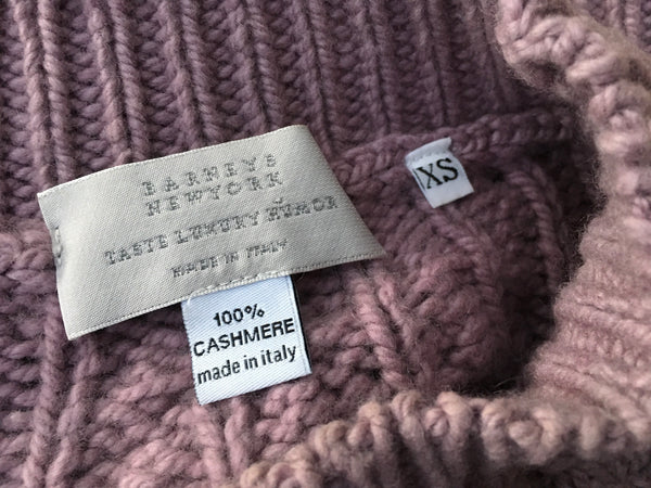Barneys New York Taste Luxury Humor Cashmere Cable Knit Sleeveless Sweater Ladies