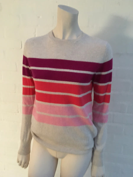 AUTOGRAPH M&S Marks & Spencer PURE CASHMERE RIBBED ROUND NECK JUMPER SWEATER  LADIES