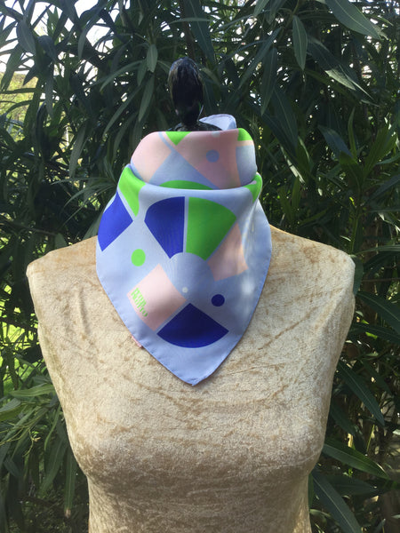 PETER PILOTTO Silk Multi Coloured Geometric Print Square Shaped Scarf  LADIES