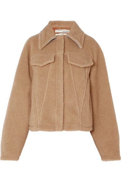Off-White c/o Virgil Abloh Kylie Jenner Bear faux shearling jacket Ladies