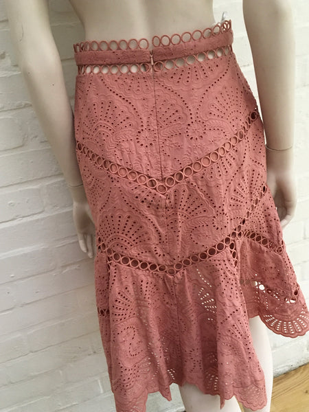 ZIMMERMANN Jasper Fan Skirt Size 1 UK 10 US 6 FR 38 Ladies