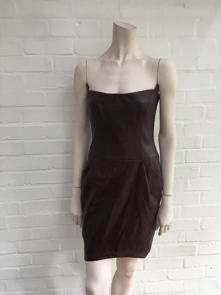 JASMINE DI MILO RUNAWAY COUTURE LEATHER DRESS LADIES