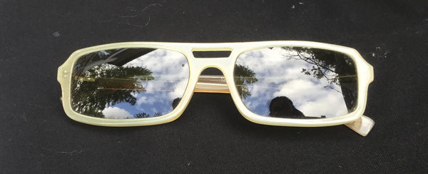 RetroSpecs & Co. REAL BUFFALO HORN sunglasses 12K GOLD INLAY CIRCA 1930-40'S 55/19 MEN