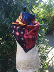 "LOUIS VUITTON Silk Scarf S. Chia 35"" x 35""  LADIES"