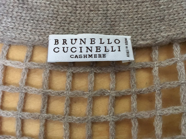 Brunello Cucinelli Sequin Knit Cashmere Pullover Cardigan Sweater Size S Small Ladies