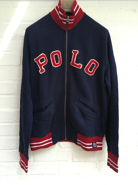 RALPH LAUREN POLO NAVY ZIP-UP SWEATSHIRT SIZE M MEDIUM MEN