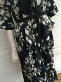 H&M CONSCIOUS EXCLUSIVE PATTERNED FLORAL SILK DRESS LADIES