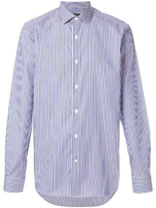 "Corneliani LONG SLEEVE BUTTON-UP STRIPED SHIRT SIZE 15.5"" 39 CM Men"